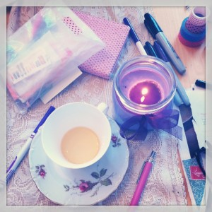 tea and candle