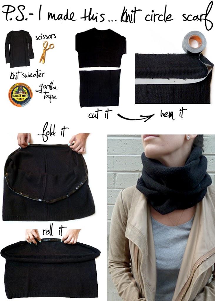 Как из кофты сделать шарф